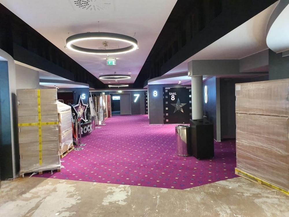 izmjena postavljanje tepisona cineplexx lobby - kino dvorane